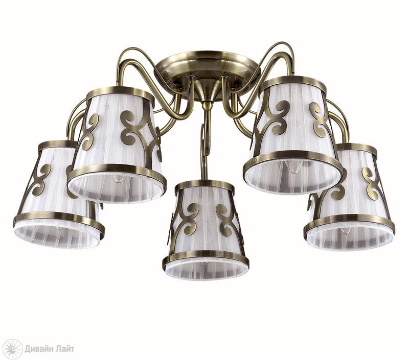 LUMION 3285/5C LN16 000 бронзовый/ткань/метал. декор Люстра потолочная E14 5*60W 220V FETIDA