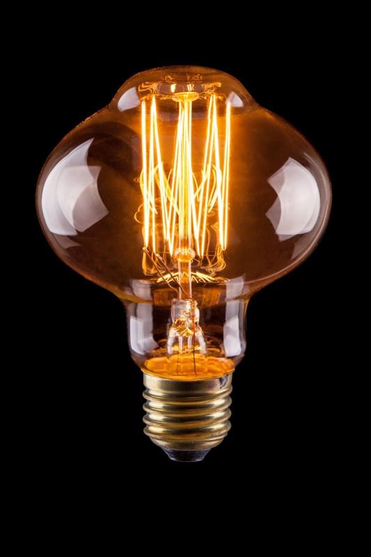 Voltega Лампада винтажная  L85 (Янтарь нити)  40W  Е27   VG6-L85A1-40W подвесной светильник la lampada 130 l 130 8 40