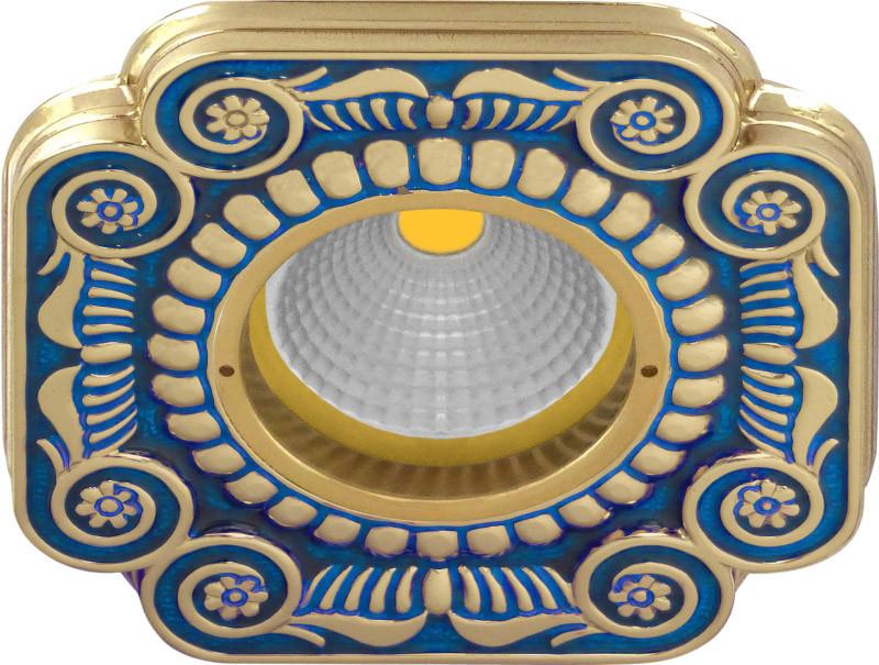 Fede FD1007AZEN Квадратный точечный светильник из латуни, blue sapphire fede fd1026ccb квадратный точечный светильник из латуни bright chrome