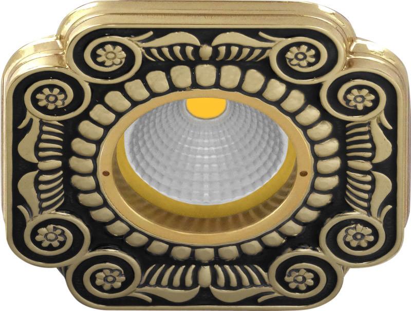 Fede FD1007NEEN Квадратный точечный светильник из латуни, jet black fede fd1026ccb квадратный точечный светильник из латуни bright chrome