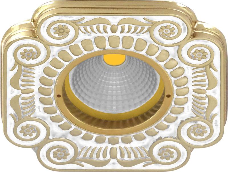Fede FD1007OPEN Квадратный точечный светильник из латуни, pearl white fede fd1026ccb квадратный точечный светильник из латуни bright chrome