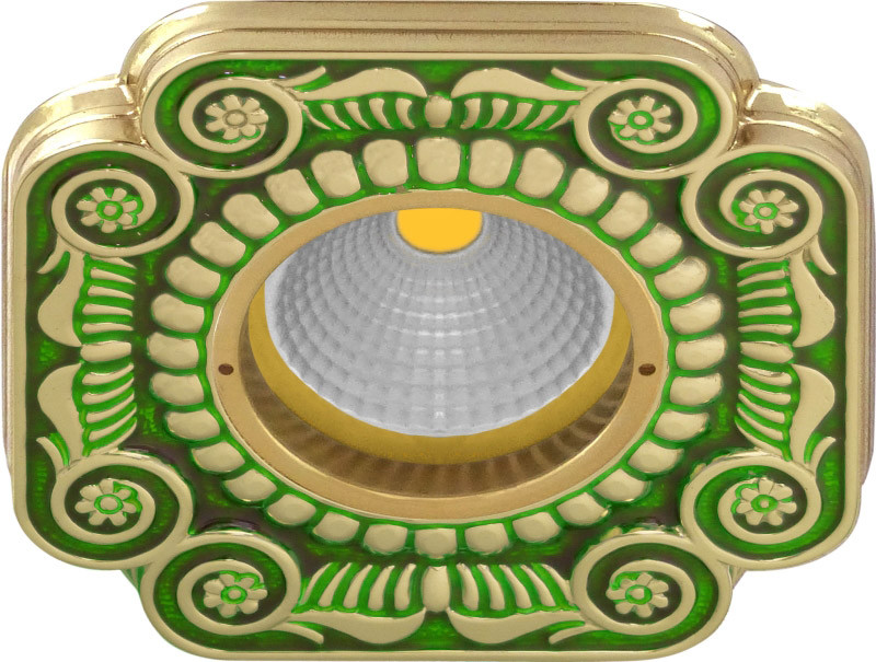 Fede FD1007VEEN Квадратный точечный светильник из латуни, emerald green fede fd1026ccb квадратный точечный светильник из латуни bright chrome
