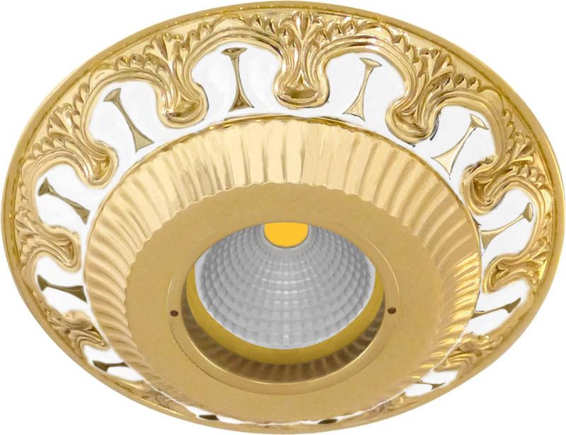 цены Fede FD1019OPEN Круглый встраиваемый точечный светильник из латуни, pearl white