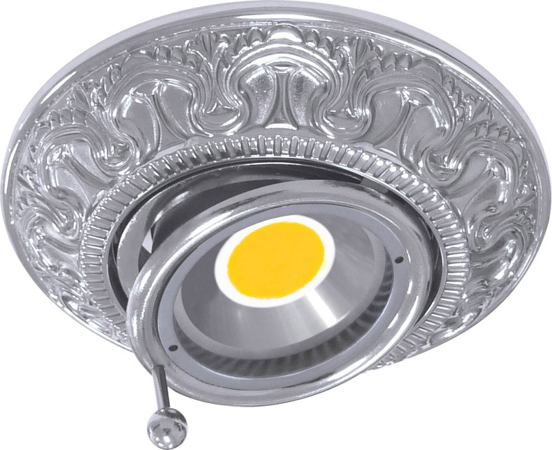 Fede FD1038RCB Круглый точечный поворотный светильник из латуни, chrome светильник точечный круглый коллекция pisa lights fd1010rcb светлый хром латунь fede феде