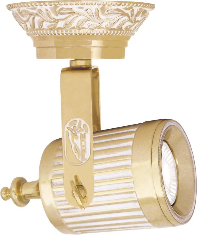 Fede FD1049POP Светильник из латуни с патроном GU10, gold white patina