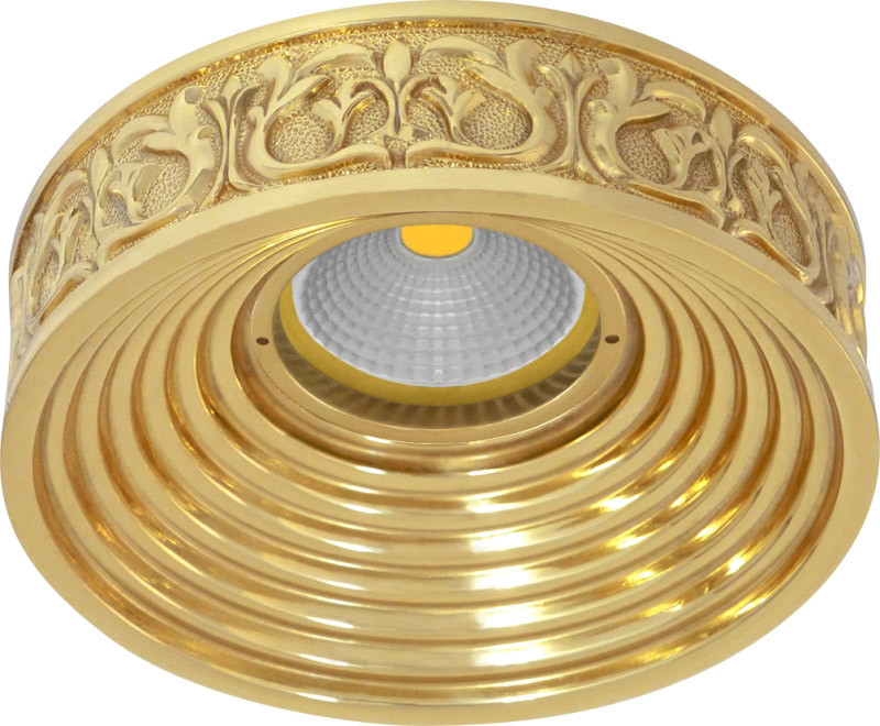 Fede FD1055ROB Круглый точечный светильник EMPORIO из латуни, блестящее золото светильник точечный накладной коллекция vitoria surfase fd1012sob латунь блестящее золото fede феде
