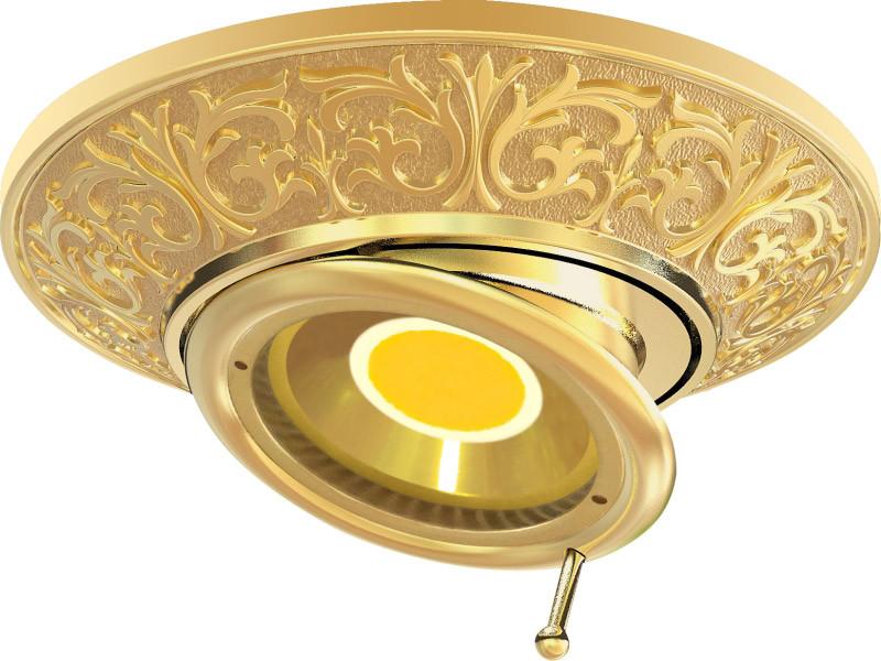Fede FD1102SOB Круглый встраиваемый, поворотный точечный светильник, bright gold светильник точечный круглый коллекция pisa lights fd1010rcb светлый хром латунь fede феде