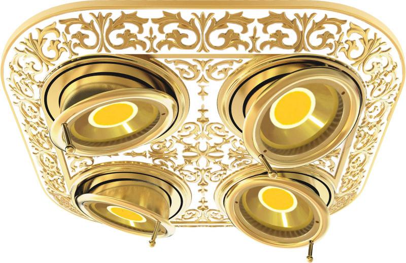 Fede FD1104SOP Прямоугольный встраиваемый, поворотный светильник на 4 лампы, gold white patina eplutus ep 1104 в тамбове