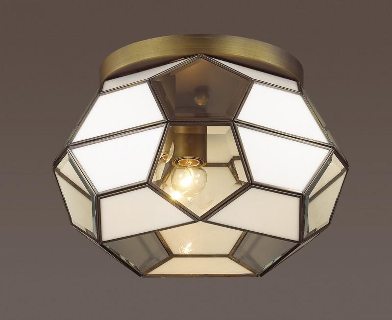 все цены на Odeon Light 3295/3C ODL17 089 бронзовый, стекло Потолочный светильник E27 3*60W 220V LEKKO