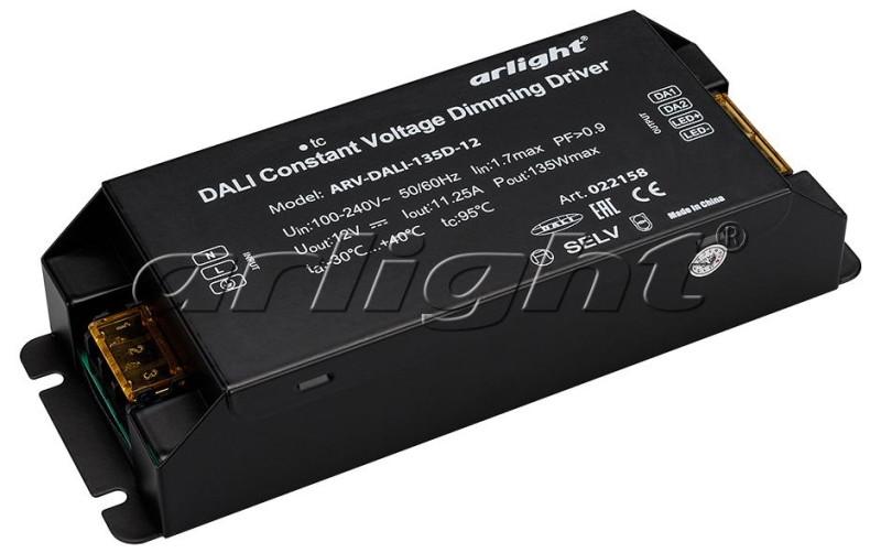 Arlight Блок питания ARV-DALI-135D-12 (12V, 11,25A, 135W, DALI, PFC) arlight блок питания arv dali 135d 12 12v 11 25a 135w dali pfc