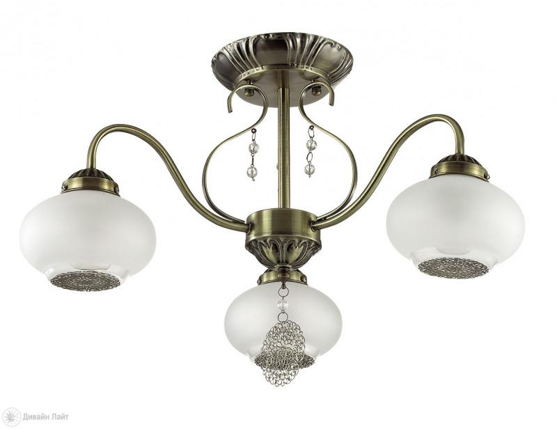 LUMION 3287/3C LN17 000 бронзовый/стекло/метал. декор/декор. хрусталь Люстра потолочная 3*40W 220V EMILINA