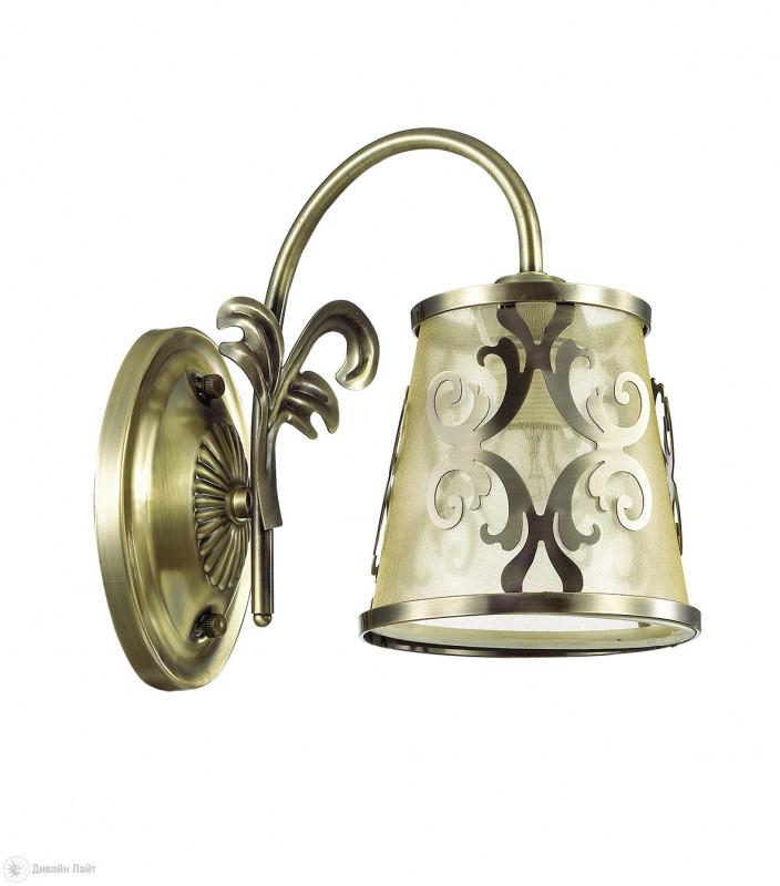 LUMION 3418/1W LN17 000 бронзовый/абажур ткань/метал.декор Бра E14 60W 220V LACRESSA