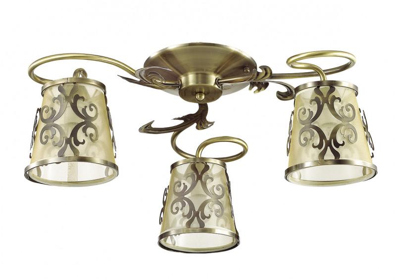LUMION 3418/3C LN17 000 бронзовый/абажур ткань/метал.декор Люстра потолочная E14 3*60W 220V LACRESSA