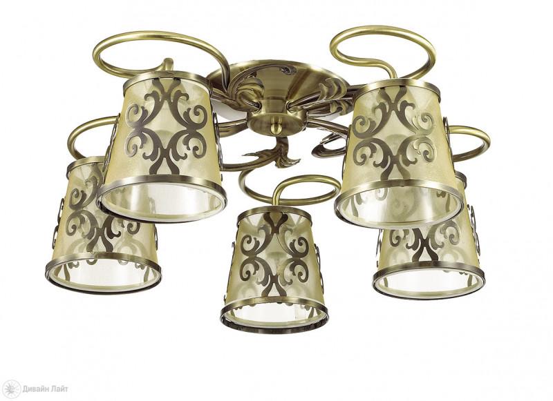LUMION 3418/5C LN17 000 бронзовый/абажур ткань/метал.декор Люстра потолочная E14 5*60W 220V LACRESSA