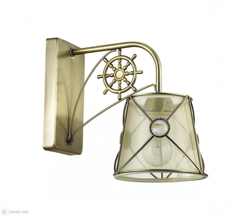 Фото LUMION 3419/1W LN17 000 бронзовый/абажур ткань/метал.декор Бра E14 60W 220V OZANNA. Купить с доставкой