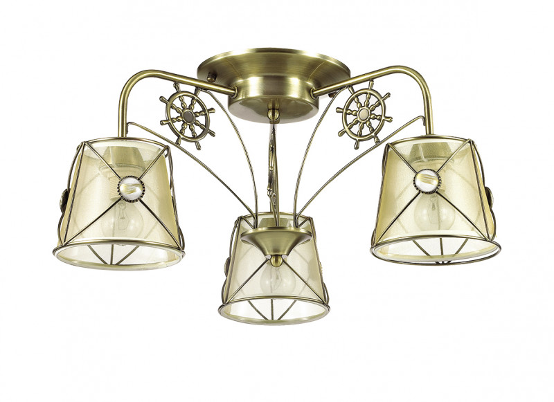 LUMION 3419/3C LN17 000 бронзовый/абажур ткань/метал.декор Люстра потолочная E14 3*60W 220V OZANNA globo agam 3419