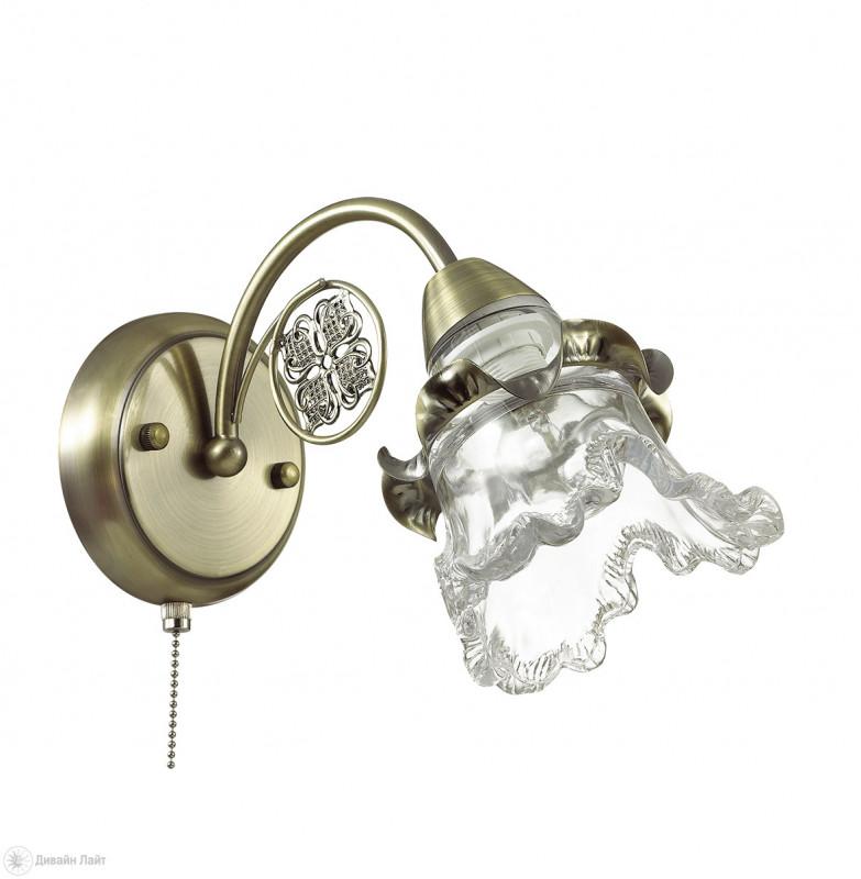 где купить LUMION 3450/1W LN17 000 бронзовый/стекло/метал.декор Бра E14 60W 220V ELOISA по лучшей цене