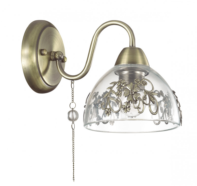 LUMION 3452/1W LN17 000 бронзовый/стекло/декор.метал/цепочки/иск.жемч. Бра E27 60W 220V ABSOLONA