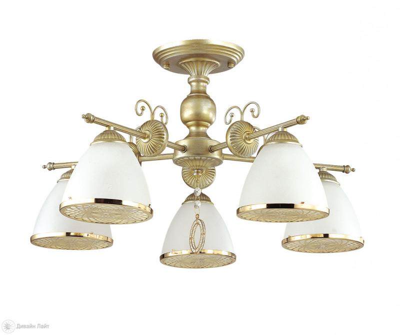 Фото LUMION 3455/5C LN17 000 матовое золото/стекло Люстра потолочная E14 5*40W 220V GASPARDO. Купить с доставкой