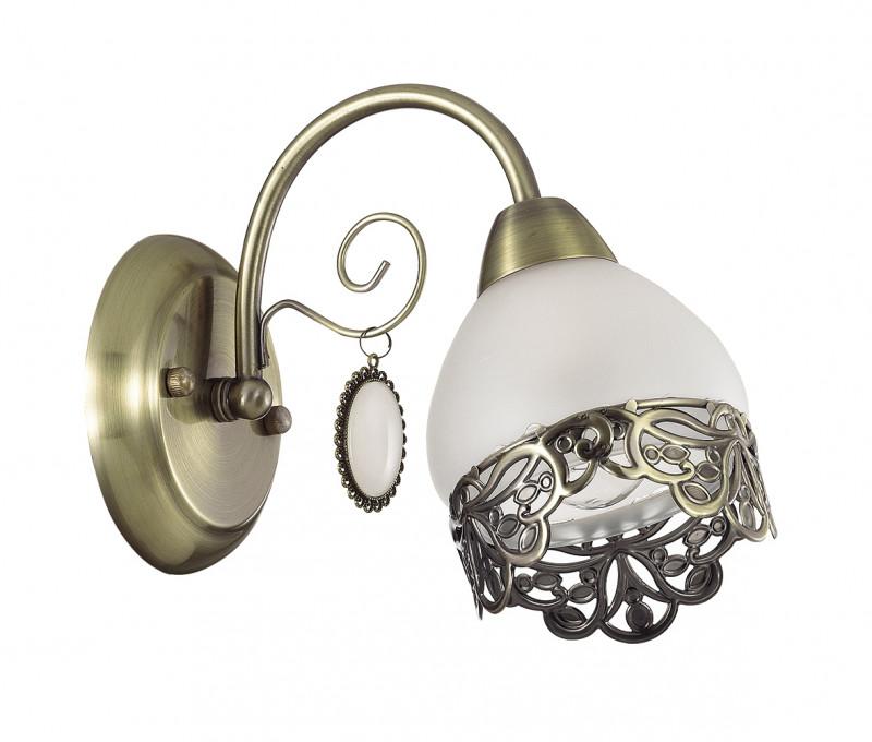 LUMION 3461/1W LN17 000 бронзовый/стекло/метал.декор/подвески Бра E14 40W 220V MAKERRA