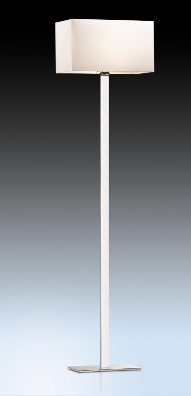 Odeon Light 2421/1F ODL13 577 хром/абажур/кремов Торшер  E27 60W 220V NORTE