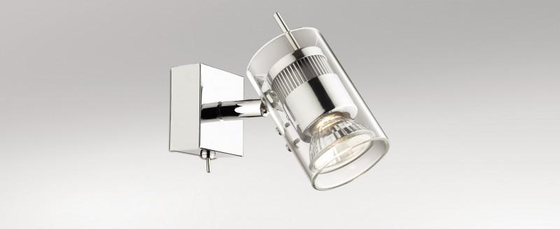 Odeon Light 2474/1W ODL13 767 хром/стекло Подсветка с выкл