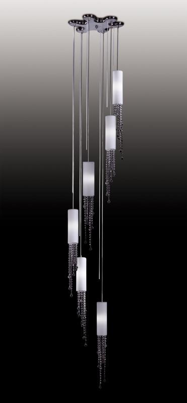 Odeon Light 2571/6 ODL13 549 хром/стекло/хрусталь Подвес  G9 6*40W 220V NOTTS odeon light notts 2571 6