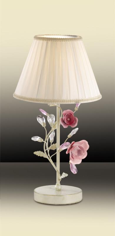 Фото Odeon Light 2585/1T ODL13 607 бежевый/розовый/хрусталь Н/лампа  E27 40W 220V OXONIA. Купить с доставкой