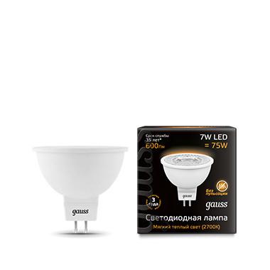 Gauss Лампа Gauss LED MR16 GU5.3 7W 2700K 1/10/100