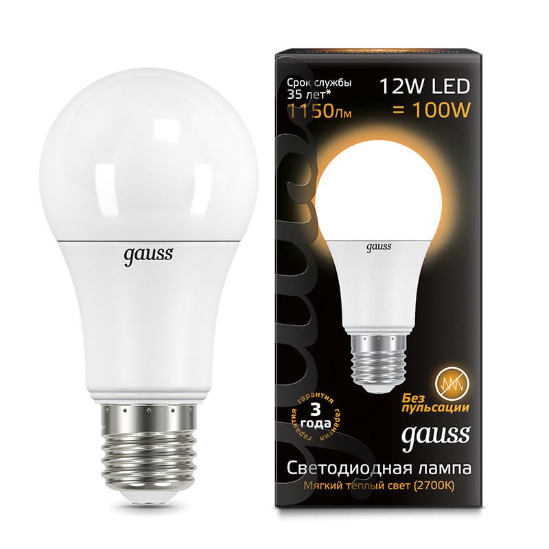 Gauss Лампа Gauss LED A60 globe 12W E27 2700K 1/10/40 лампа hy 10 12 asx led