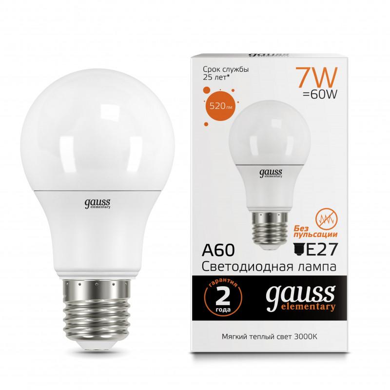 Gauss Лампа Gauss LED A60 7W E27 2700K 1/100