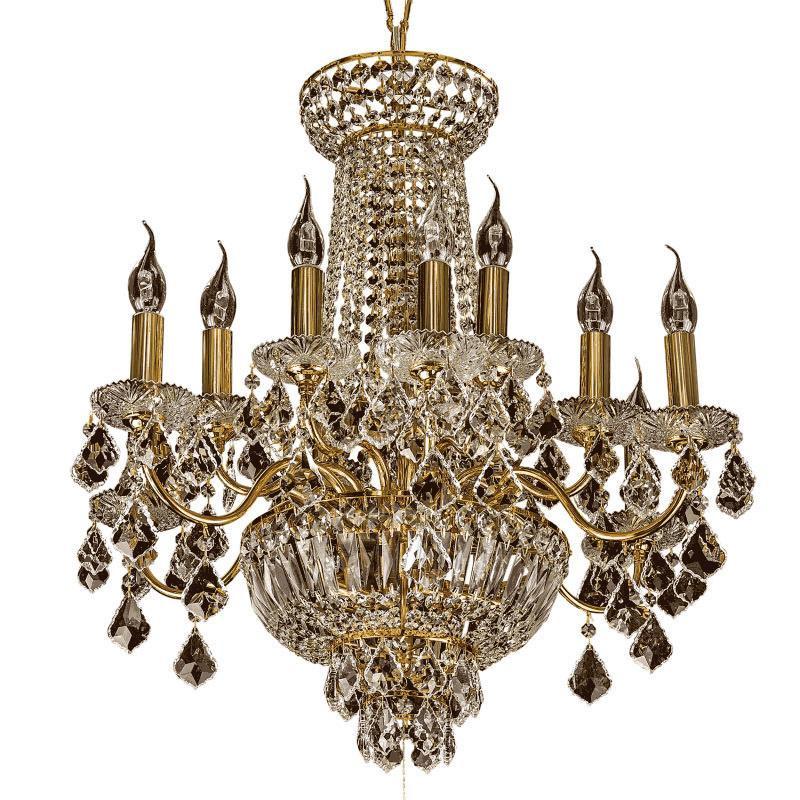 Lightstar 700162 (MD00071-16) Люстра подвесная CLASSIC 16х60W E14 ЗОЛОТО (в комплекте), шт lightstar 708052 md 300018 5 люстра подвесная elegante 5х60w e14 24k золото шт