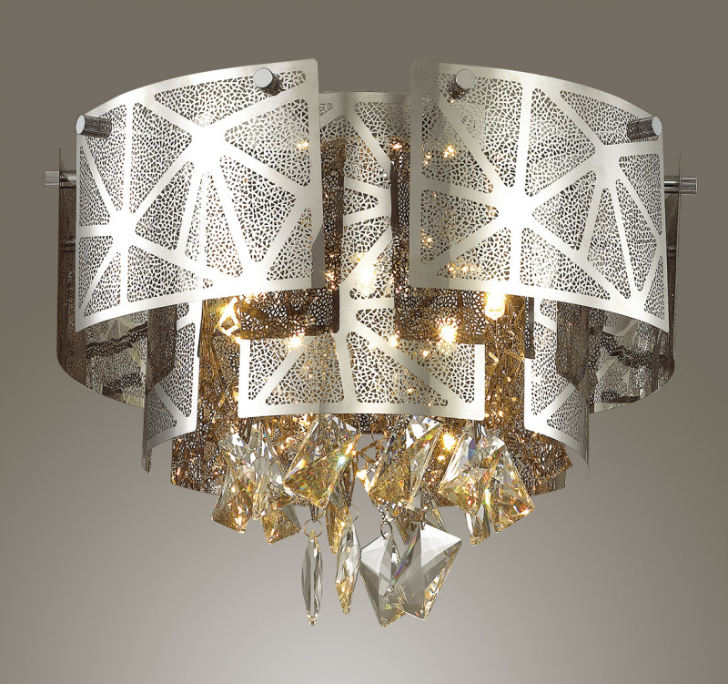 Odeon Light 3479/5C ODL17 000 хром/декор хрусталь Люстра потолочная  G9 5*42W 220V HILARY потолочный светильник odeon light hilary 3479 5c