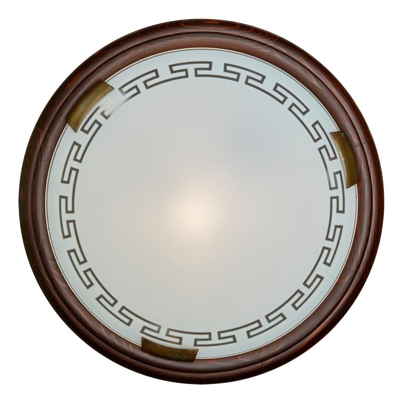 где купить Sonex 160/K SN16 051 тёмный орех/бронзовый Н/п светильник E27 2*60W 220V GRECA WOOD по лучшей цене