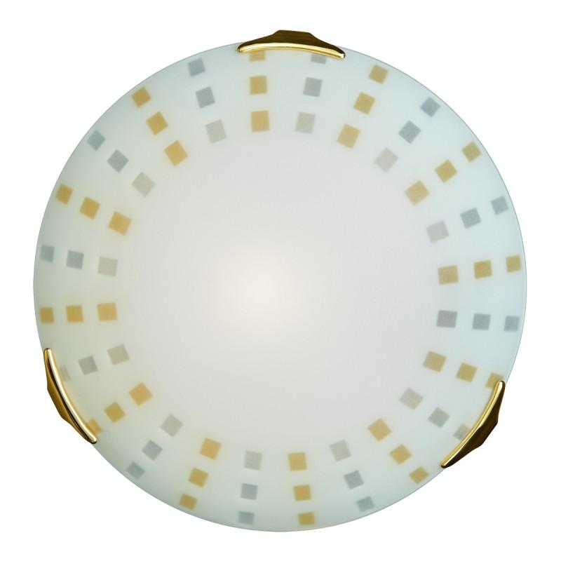 Sonex 163/K SN16 049 золото Н/п светильник E27 2*60W 220V QUADRO AMBRA sofia п 049