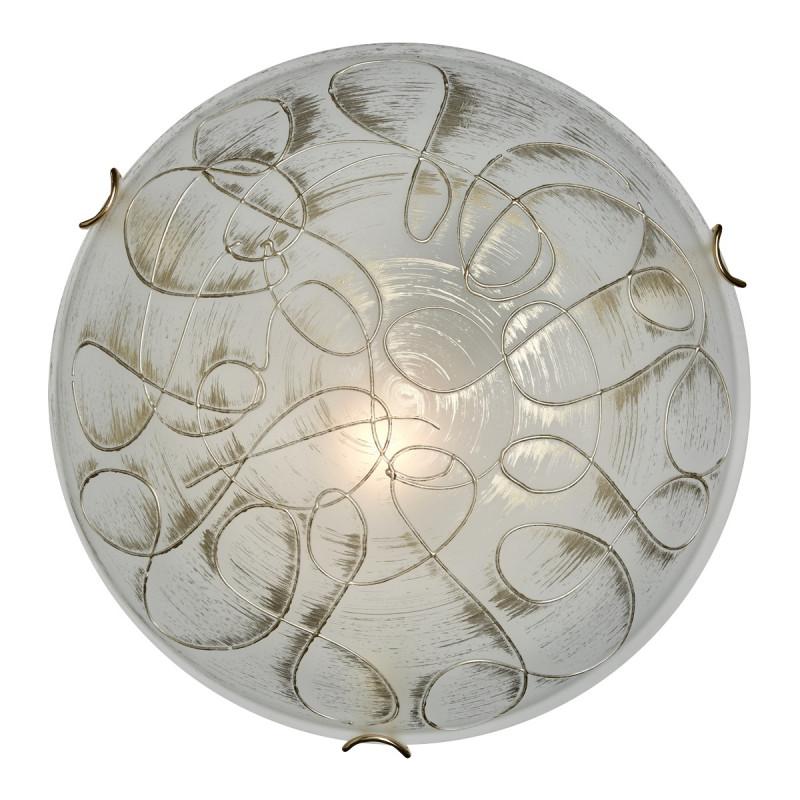 Sonex 165/K SN16 110 белый/золото Н/п светильник E27 2*60W 220V  VIOLA настенно потолочный светильник sonex 110 k sn16 087 luaro