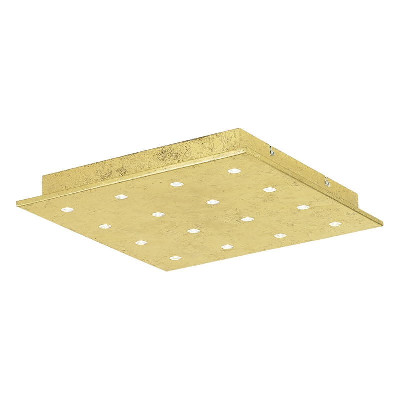 EGLO Светодиодный настенно-потол. светильник VEZENO 1, 16х1,1W(LED), 370х370, H50, сталь, золотой двухбанковый низковольтный модуль dell rdimm 16 гбайт 1 600 мгц комплект 370 23370 370 23370