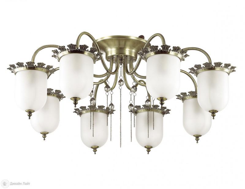 LUMION 3456/8C LN17 000 бронзовый/стекло Люстра потолочная E14 8*40W 220V DENISSA