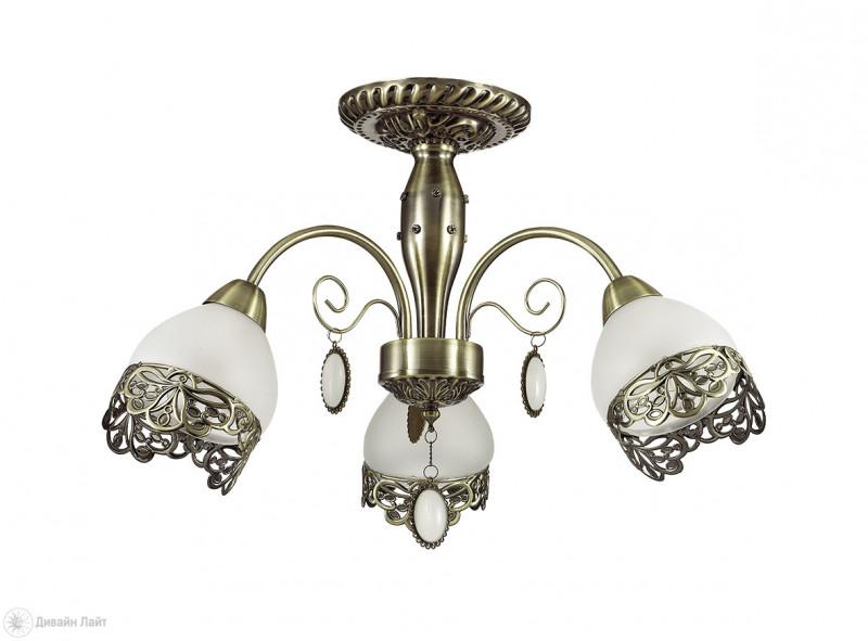 LUMION 3461/3C LN17 000 бронзовый/стекло/метал.декор/подвески Люстра потолочная E14 3*40W 220V MAKERRA