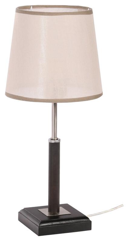 Дубравия Настольная лампа ШЕРИ 1хЕ27х40Вт венге 155-41-11Т