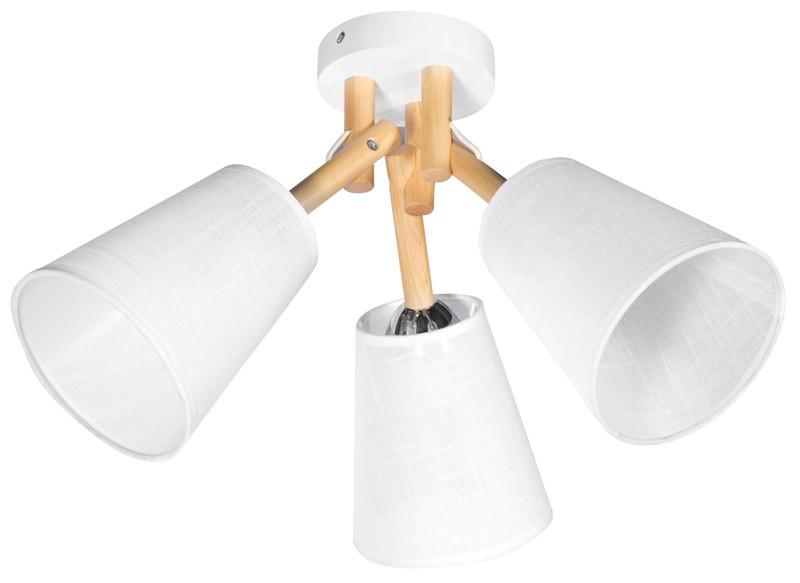 Фото Дубравия Светильник потолочный КАРО 3хЕ14х40Вт белый и натуральный 182-51-13. Купить с доставкой