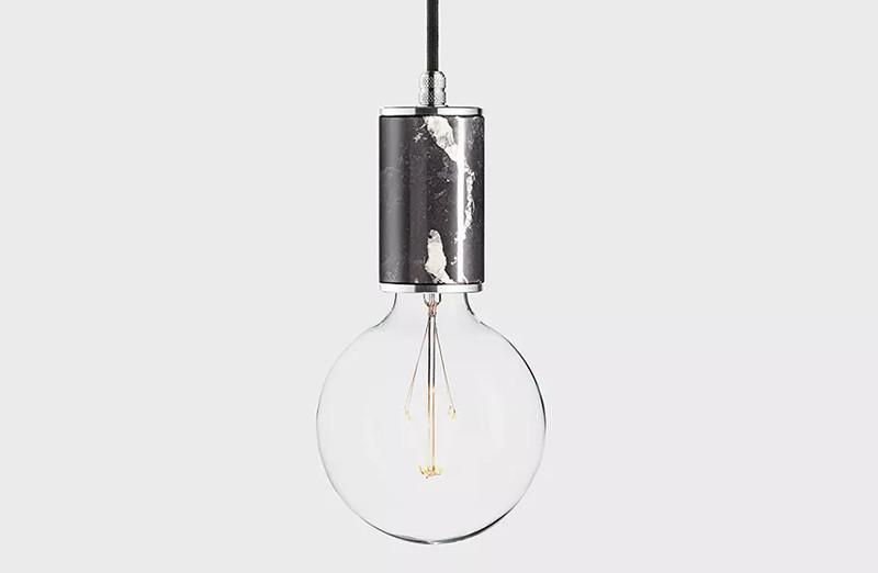 Фото Latitude Подвесной светильник, LATITUDE Marmor Glans nero/aluminum. Купить с доставкой