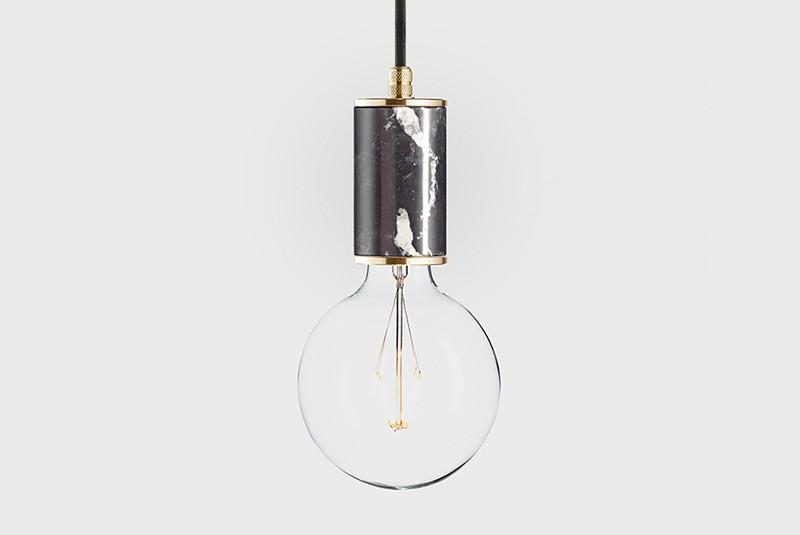 Фото Latitude Подвесной светильник, LATITUDE Marmor Glans, nero/brass. Купить с доставкой