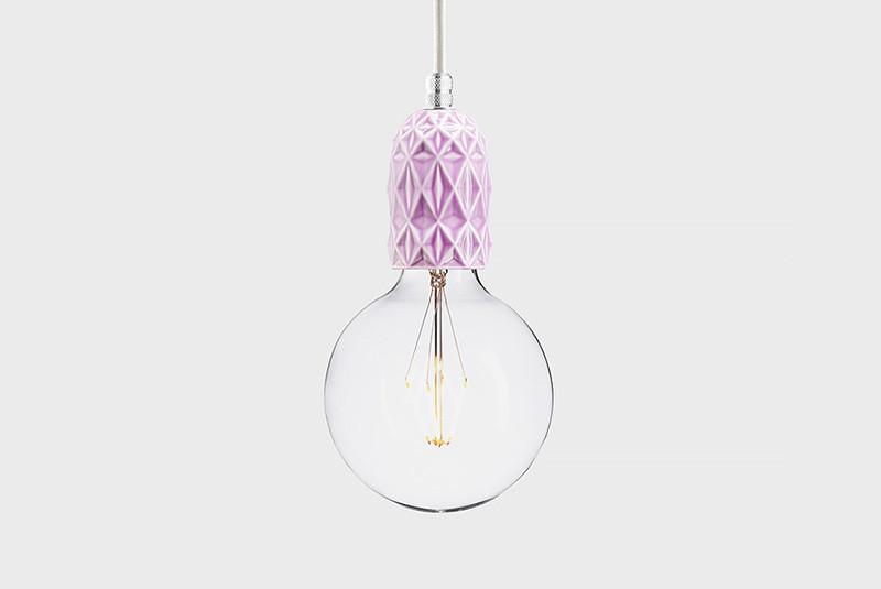Фото Latitude Подвесной светильник, LATITUDE Keramik Air lila/aluminum. Купить с доставкой