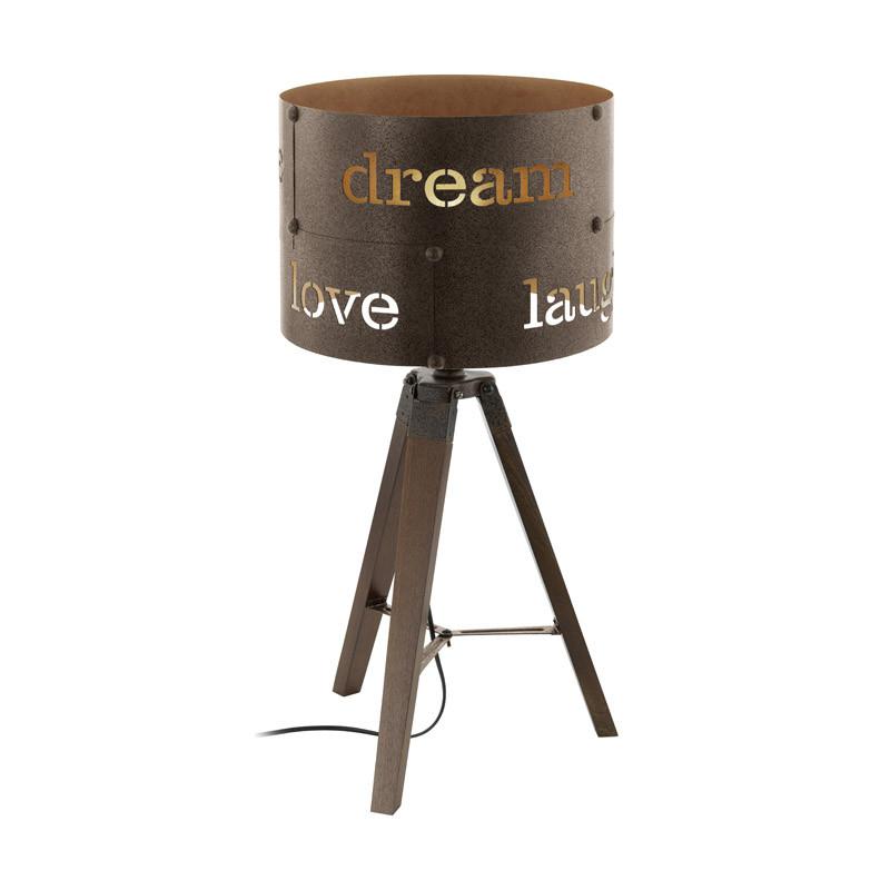 EGLO Настольная лампа COLDINGHAM, 1x60W (E27), ?320, H670, сталь, бурый eglo настольная лампа декоративная coldingham