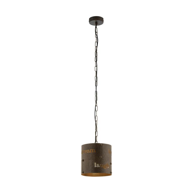 EGLO Подвес COLDINGHAM, 1x60W (E27), ?200, H1100, сталь, бурый eglo настольная лампа декоративная coldingham