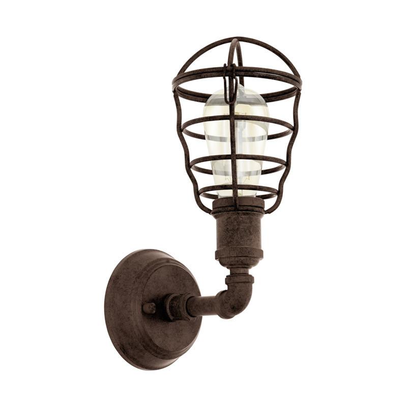 EGLO Бра PORT SETON, 1х60W (E27), H320, сталь, коричневый состаренный eglo бра port seton