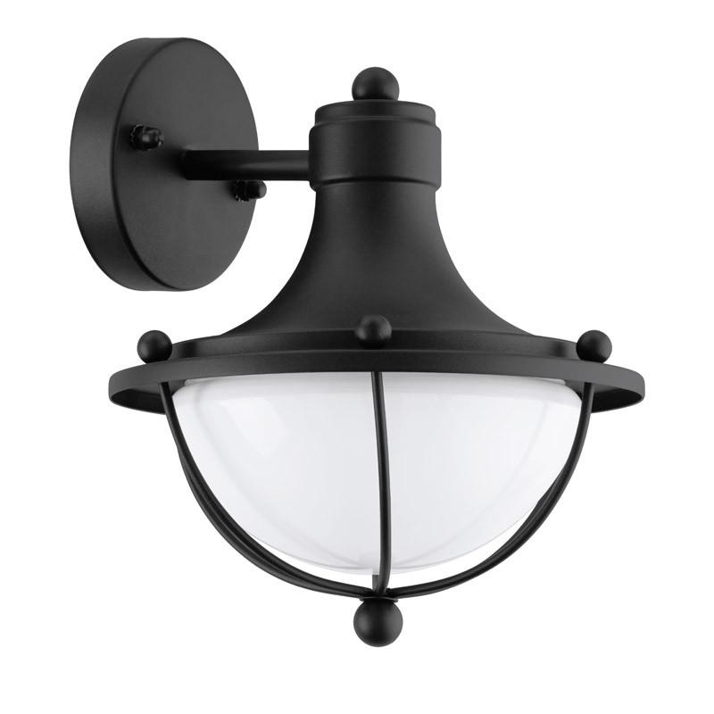 EGLO Уличный светильник настенный MONASTERIO, 1х60W (E27), H265, гальв. сталь, черный/сатин. стекло, бел eglo уличный светильник eglo monasterio 95979