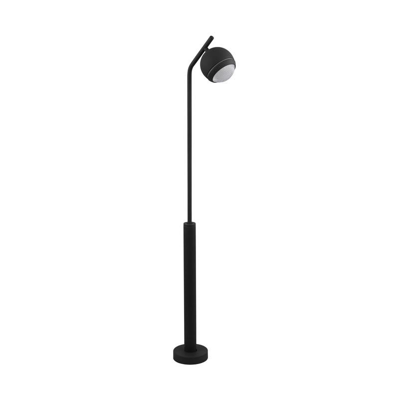 EGLO Уличный светодиодный фонарь СOMIO, 1х3,7W (LED), H1020, гальв. сталь, антрацит/пластик, прозрачный фонарь ручной эра 1 x 1 w led