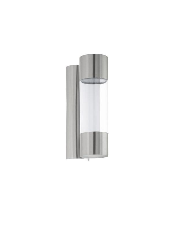 EGLO Уличный светодиодный светильник настенный ROBLEDO, 2х3,7W (LED), H260,  нерж. cталь/пластик, прозрач
